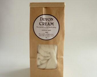 Natural white merino roving, 25g, 1oz, 'Devon Cream', 21 micron, merino roving, white merino tops, felting wool, needle felting, wet felting