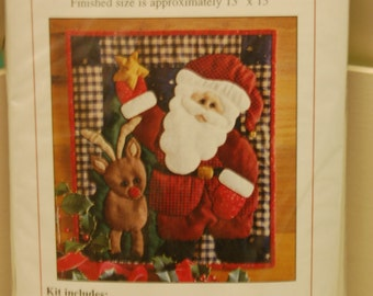 Santa Wallhanging Quilt Kit