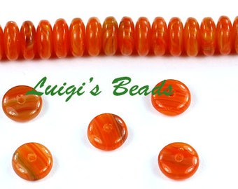 50 Sweet Potato Czech Glass Rondelle Spacer Beads 6mm