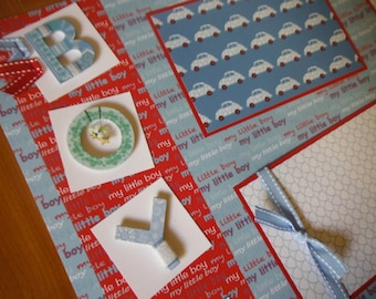 2 Premade My Little Boy 12x12 Scrapbook Pages for your son and album