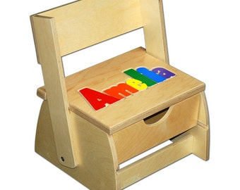 Child S Name Puzzle Stool Free Shipping Item 101 2