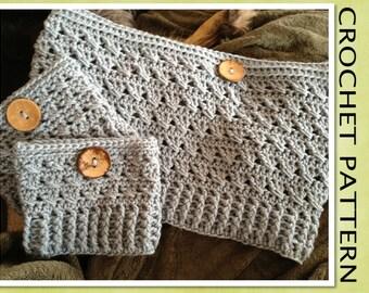 PDF Crochet Pattern - The Criss-Cross Cowl Scarf