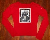 red studded Raconteurs cardigan ladies size small