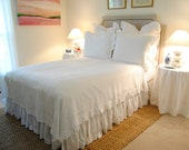 King Size Flax Linen Coverlet-Blythe Bedding Collection