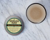 Basil Mint Shaving Soap// Natural Shave// Mens Shave Soap