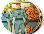 Fantastic Four Coasters // Recycled Vintage Comic Book