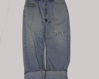 36 Classic Vintage Levi Boyfriend  jeans 36 waist denim jeans