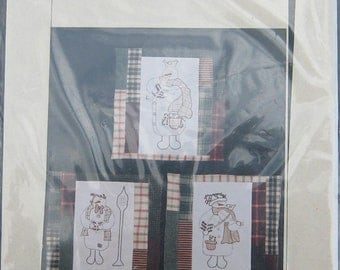 Freckles Stitchery Embroidery Snowman Pattern