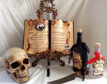 Headless Horseman legend sleepy hollow tree of dead spell book prop halloween