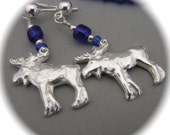 Blue Moose - Earrings - Recycled Silver - Eco Friendly
