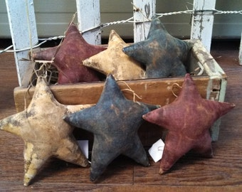 Primitive Americana Star Ornaments