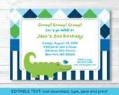 Alligator Birthday Invita...