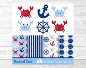Cute Crab Clipart / Crab ...