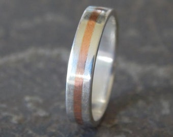 SLIM Silver & Copper 5 mm // Men's Wedding Ring // Women's Wedding Ring // Men's Wedding Band // Women's Wedding Band // Unique Band
