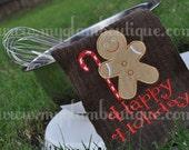 Christmas Gingerbread Man Applique design - Machine Embroidery Design - INSTANT DOWNLOAD - jef exp dst sew vip hus pes xxx