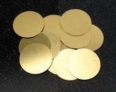 """1-1/2"""" Brass Disc 24 Gauge  Pack of 12"""