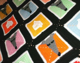 AerieDesigns' Homes 4 Hounds Greyhound Dog Afghan PDF Crochet Pattern Instant Digital Download