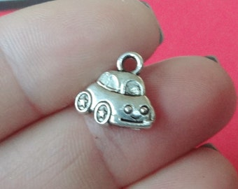 10 Star Beetle Charms (double sided, puffed) 12x12x3mm ITEM:W7