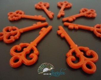 LARGE Red Key Pendants, Acrylic - 8x