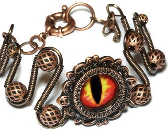 DragonPunk Jewelry - Bracelet - Fire dragon eye