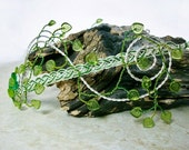 Elven Princess Spring Wedding Tiara Circlet Peridot