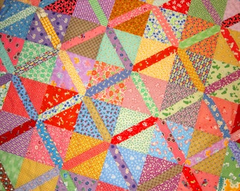 CROSSOVER Quilt from Quilts by Elena 1930's Reproduction Fabrics Ready to Ship