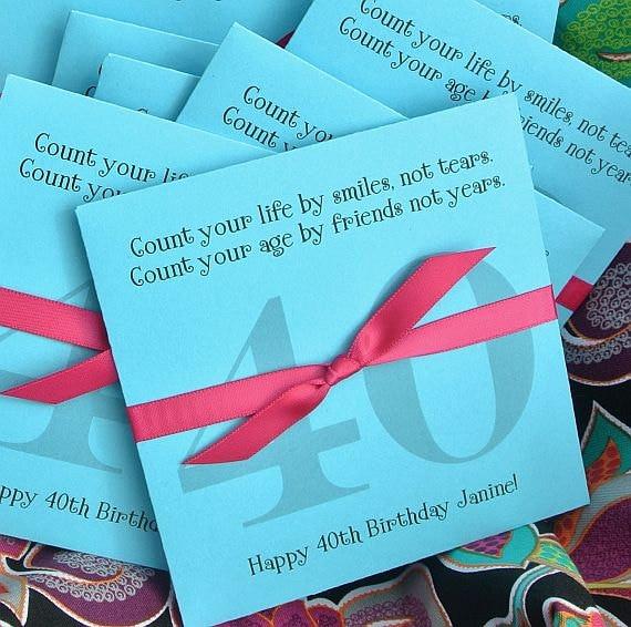 Custom Lottery Ticket Envelopes For 40th Birthday