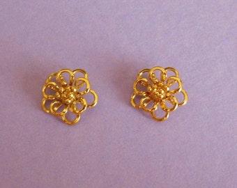 Loopy Flower Earrings Vintage