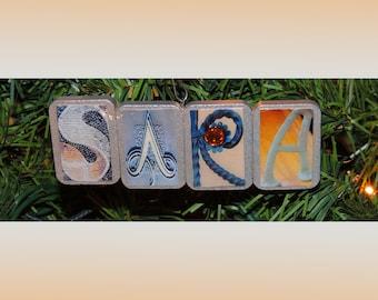 Sara Christmas ornament