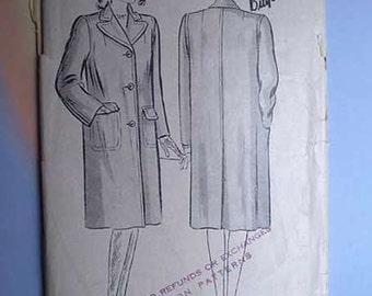 Vintage 40s Polo Coat Pattern 30 XS