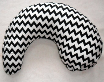 Black Chevron Pillow Cover Fits Dr Brown's Gia Pillow