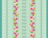 De-stash Sale- Cotton and Steel Fabric-  Fabric Shipping Special - Rose Border in Multi , Mustang, Melody Miller - 1/2 y