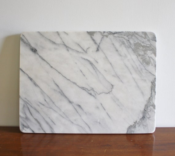 Large Solid White Marble Pastry Board Georges Briard