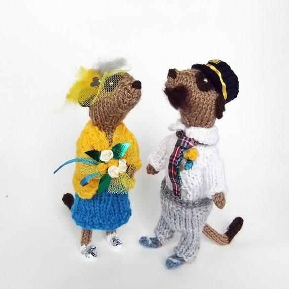Reserved for M, Meerkat Wedding, bride and groom, custom meerkats