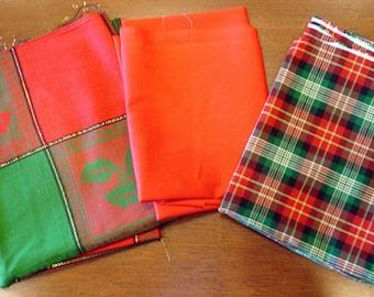 Christmas Fabric Destash – It's A Plaid Christmas, Over 3 1/2 Yards