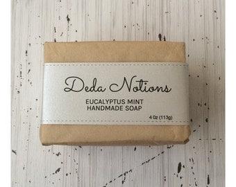 Eucalyptus Mint - OLIVE & SHEA BUTTER Soap - Handmade Cold Process
