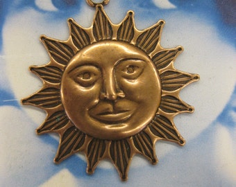 Copper Ox Plated Brass Sun Charms 251COP x2
