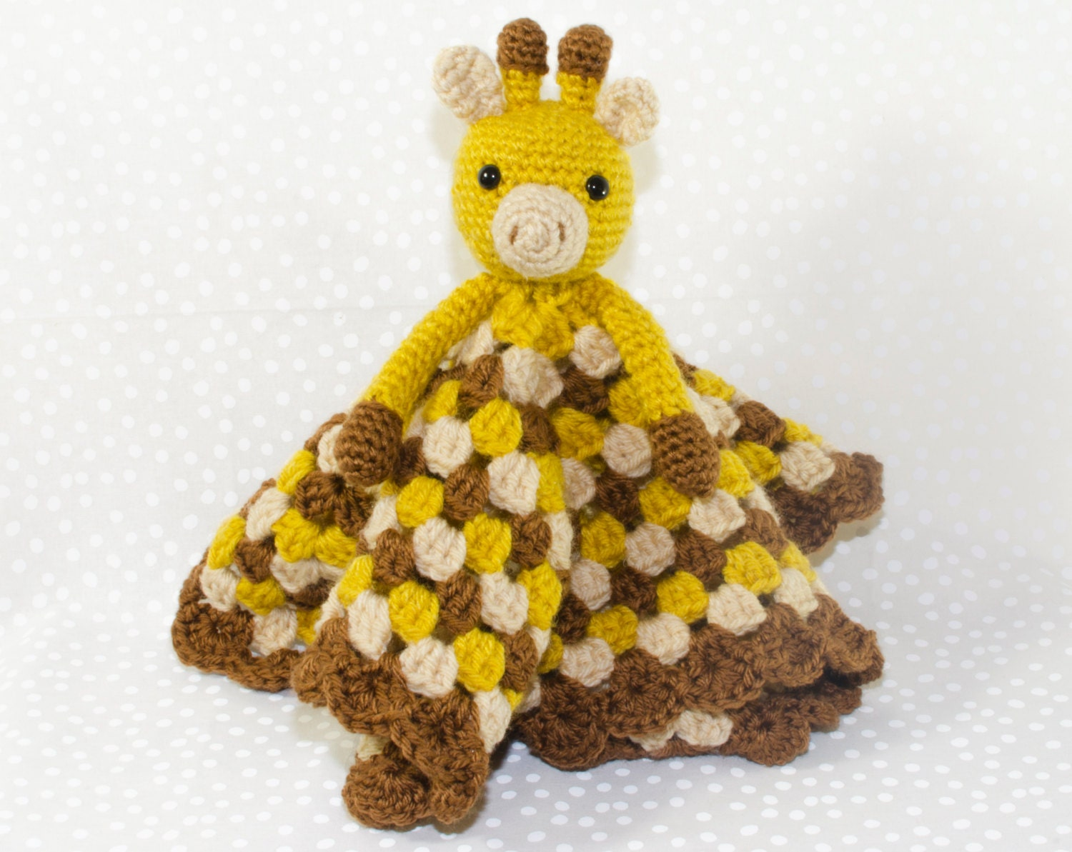 Crochet Pattern Giraffe Blanket : Crochet Giraffe Lovey Security Blanket by AdventuresInYarnia