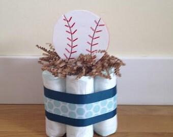 Small diaper cake BASEBALL Sports Theme Customizable