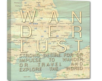 Gift ideas Holiday Large Sheet Wanderlust Personalized Atlas Map, Custom Map for Anniversaries, Weddings, Birthdays, New Home,  20X20