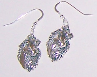Sterling Silver HORSE Earrings - Equestrian, Whoa Team