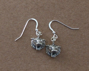 Sterling Silver BOBCAT Earrings -- Wildlife, Totem, Cat