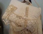 Shabby Cottage Chic Vintage Pillow Door Hanger