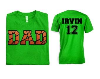 Basketball Dad Men Shirt - Front and Back Design