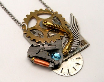Steampunk jewelry necklace pendant