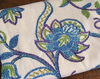 "92"" x 44"" Vintage Waverly Screenprinted Fabric ""INDUS"""
