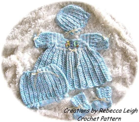 Crochet Pattern for Baby Girl Dress...........Peppermint Baby