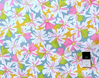 Erin McMorris PWEM037 LaDeeDa Oopsy Daisy Pink Cotton Fabric 1 Yard