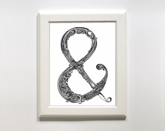 Holiday Sale // Ampersand Doodle Print