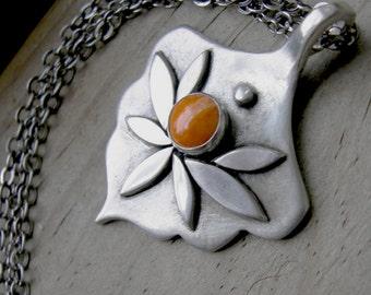 Amphitrite Goddess Pendant Sterling Spiny Oyster Shell PMC artisan jewelry